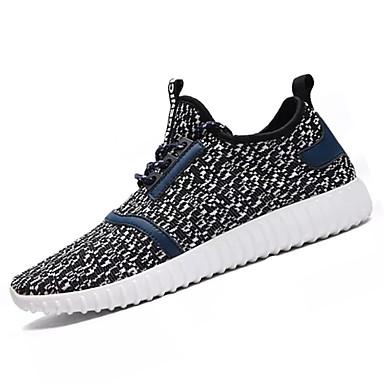 Homens sapatos Tule Primavera Outono Tênis Caminhada Combinação para Preto Cinzento Escuro Cinzento Claro