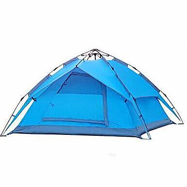 3-4 osoby Stříška Dvojitý Camping Tent jeden pokoj automatický stan Odolný proti vlhkosti Voděodolný pro Kempink Vevnitř Outdoor
