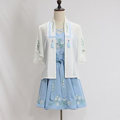 Austattungen Wa Vintage Inspirationen Cosplay Lolita Kleider Vintage Kurzarm Kurz / Mini Zum