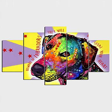 Aufgespannte Leinwandrucke Moderne Natur inspirierter Stil Art déco/Retro,Fünf Panele Horizontal Druck Wand Dekoration For Haus Dekoration