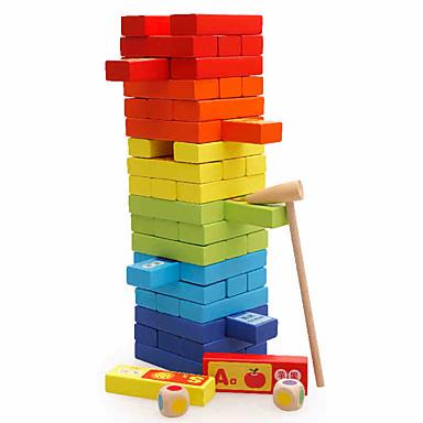 Deskové hry stavebnice Stohovací věž Hračky Obdélníkový Vzdělání Velká velikost Rovnováha Dětské Pieces