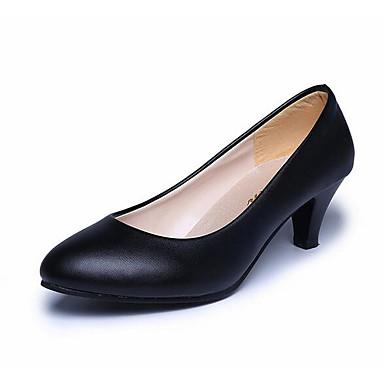 Naiset Sandaalit Comfort PU Kevät Kausaliteetti Comfort Valkoinen Musta Punainen Tasapohja