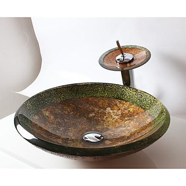 Waschbecken für Badezimmer Moderne - Hartglas Rundförmig