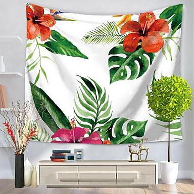 Květinový motiv Wall Decor 100% polyester Se vzorem / inspirované přírodou Wall Art, Nástěnné tapiserie Dekorace