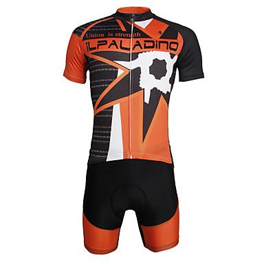 ILPALADINO Homens Manga Curta Camisa com Shorts para Ciclismo Caveiras Moto Conjuntos de Roupas, Secagem Rápida, Resistente Raios