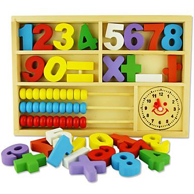 أحجار البناء لعبة العداد ألعاب الرياضيات ألعاب تربوية مربع صديقة للبيئة كلاسيكي ألعاب هدية
