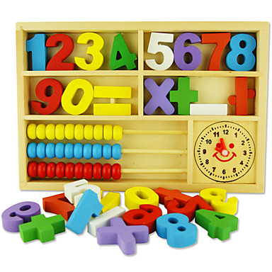 Blocos de Construir Ábaco Brinquedos Matemáticos Brinquedo Educativo Quadrada Amiga-do-Ambiente Clássico Brinquedos Dom