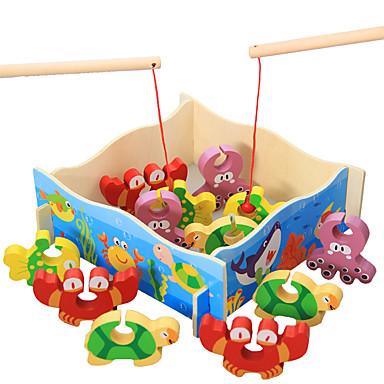 Bausteine Angeln Spielzeug Spielzeuge Spaß Holz Kinder Stücke