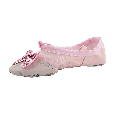 Damen Ballett Stoff Flach, Ballerina Innen Randverzierung Flacher Absatz Weiß Schwarz Knackmandel Rot Rosa Keine Maßfertigung möglich
