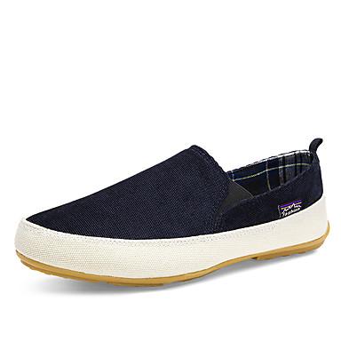 Miehet kengät Kangas 봄/Syksy Comfort Valopohjat Mokkasiinit Käyttötarkoitus Kausaliteetti Musta Ruskea Punainen Vihreä