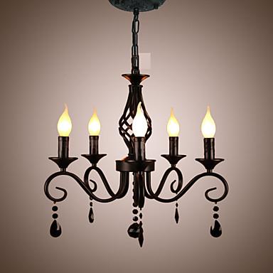 Lustres Luz Ambiente - Cristal Estilo Vela, Tradicional / Clássico Moderno / Contemporâneo, 110-120V 220-240V Lâmpada Não Incluída