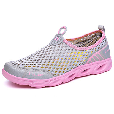 Women's Shoes Tulle Spring / Shoes Summer Light Soles Athletic Shoes / Water Shoes Flat Heel Gray / Purple / Fuchsia fb9295