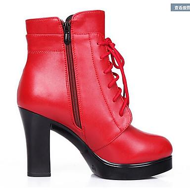 Dámské Podpatky Pohodlné Nappa Leather Kůže Jaro Běžné Černá Červená Barva obrazovky Plochý