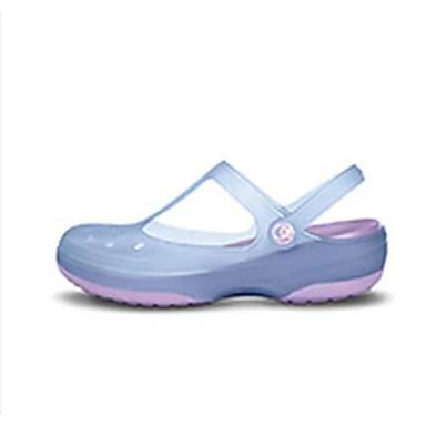 Damen Schuhe Silikon Frühling Komfort Loch Schuhe Flache Schuhe Für Normal Purpur Blau Rosa