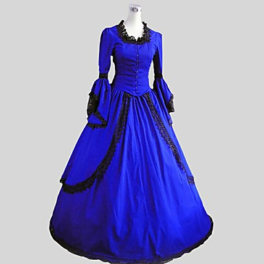 Rococo Victorian Costume Women's Cosplay Costume Party Costume Masquerade Vintage Cosplay Padded Fabric Sleeveless Ankle Length Ball Gown Plus Size Customized