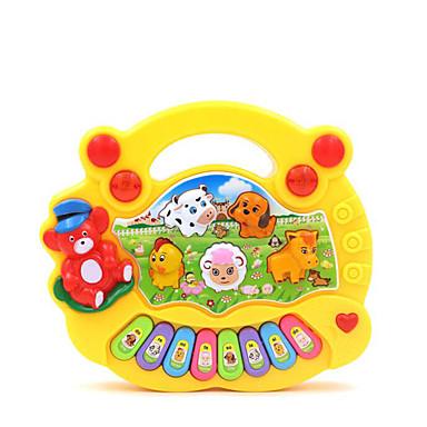 Acessório para Casa de Boneca Teclado Eletrônico Diversão Plásticos Crianças Para Meninas Dom