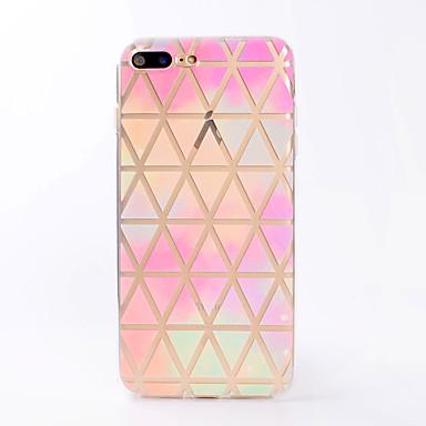 Carcasă Pro Apple iPhone X iPhone 8 Průhledné Vzor Zadní kryt Geometriské vzory Měkké TPU pro iPhone X iPhone 8 Plus iPhone 8 iPhone 7