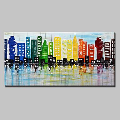Hang-Ölgemälde Handgemalte - Landschaft Europäischer Stil Modern Segeltuch