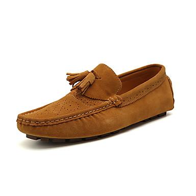 Herren Schuhe PU Sommer Herbst Komfort Leuchtende Sohlen Loch Schuhe Loafers & Slip-Ons für Normal Grau Gelb Blau