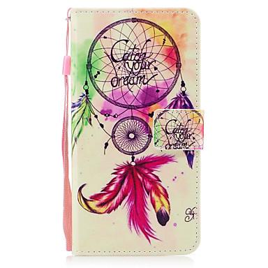 Capinha Para Apple iPhone X iPhone 8 Porta-Cartão Carteira Com Suporte Flip Magnética Estampada Capa Proteção Completa Apanhador de Sonhos