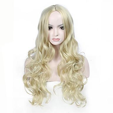 Damen Synthetische Perücken Lang Wellen Blond Natürliche Perücke Kostümperücke