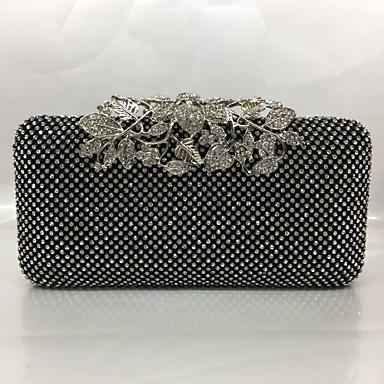 Damen Taschen Nylon / Metal Abendtasche Kristall Verzierung Gold / Schwarz / Silber