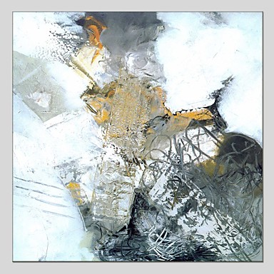 Pintura a Óleo Pintados à mão - Abstrato Contemprâneo Tela de pintura