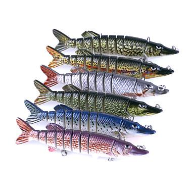 6 pcs Acessórios de pesca Jerkbaits / Vairão / Crocodilo Plástico Fácil Uso Pesca de Mar / Rotação / Pesca de Isco / Pesca Geral / Pesca de Isco e Barco
