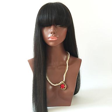 voordelige Korting Pruiken & Hair Extensions-Echt haar Lijmloos met kanten voorkant Kanten Voorkant Pruik stijl Braziliaans haar Recht Pruik 180% Haardichtheid met babyhaar Natuurlijke haarlijn Afro-Amerikaanse pruik 100% handgebonden Dames