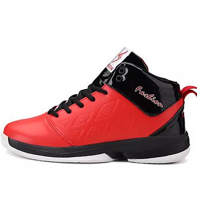 Homens sapatos Borracha Primavera Outono Conforto Tênis Cadarço para Ao ar livre Branco Vermelho Azul