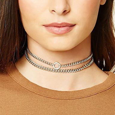 Damen Kreisform Doppelschicht Halsketten Schmuck Aleación Halsketten . Weihnachts Geschenke Party Besondere Anlässe Geburtstag Verlobung