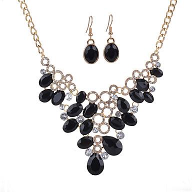 Dámské Sady šperků Pryskyřice Slitina Kapka Euramerican Módní Párty 1 x náhrdelník 1 x pár náušnic Kostýmní šperky
