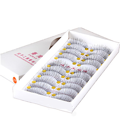 10 Cílios Cílios Tiras Completas de Cílios Alonga a Estremidade do Olho Tiras Completas de Cílios Alonga a Estremidade do Olho Fibra
