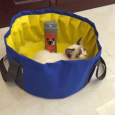 Cachorro Camas Animais de Estimação Capachos e Alcochoadas Sólido Prova-de-Água Portátil Dobrável Lavável Cinzento Azul Para animais de