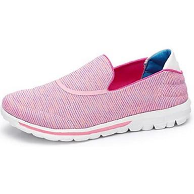 Damen Schuhe Stoff Frühling Herbst Sneakers Flacher Absatz Runde Zehe Geschlossene Spitze Für Weiß Rosa