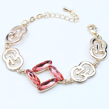 Dámské Řetězové & Ploché Náramky Šperky příroda Módní Retro Ručně vyrobeno Křišťál Slitina Oval Shape Šperky Pro Svatební Párty