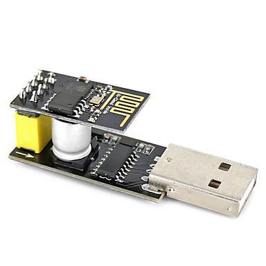 Usb to esp-01 adatper black esp-01 esp8266 módulo sem fio wi-fi