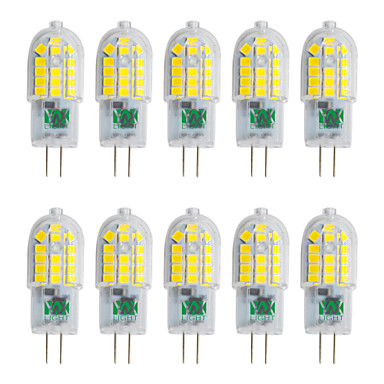 YWXLIGHT® 10pcs 3W 250-300lm G4 LED Bi-Pin lamput T 30 LED-helmet SMD 2835 Lämmin valkoinen Kylmä valkoinen Neutraali valkoinen 220-240V