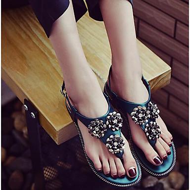 Naiset Sandaalit Kevät PU Musta Vihreä Tasapohja