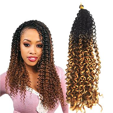 Klassisch Gute Qualität 100% kanekalon haare Echthaar Haarverlängerungen Lockige Zöpfe Haar Borten Alltag