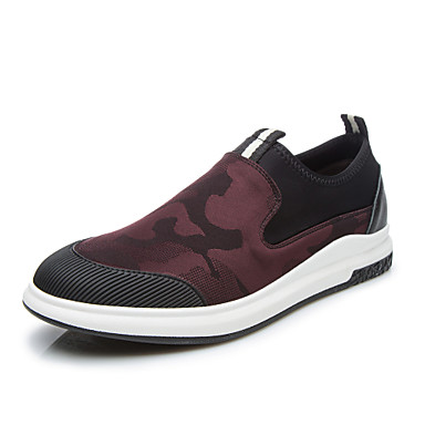 Herrn Schuhe Stoff Frühling Herbst Komfort Sneakers Walking für Normal Schwarz