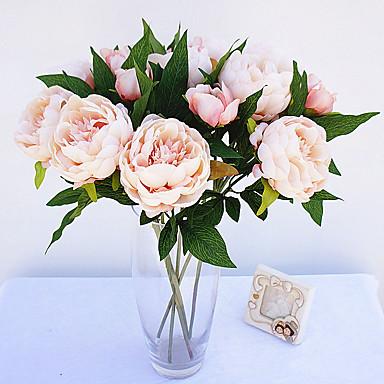 Flores artificiais 1 Ramo Estilo simples Peônias Flor de Mesa