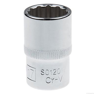 Stahl Schild 12.5mm Serie metrische 12 Winkel Standard Hülse 17mm / 1 Unterstützung