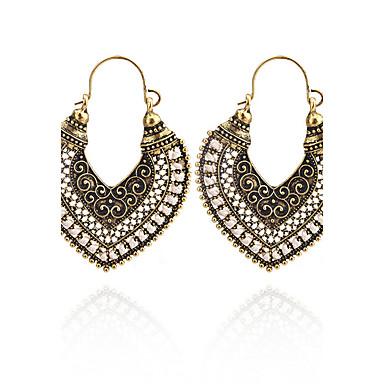 Dámské Visací náušnice Šperky Geometrik Vintage Cikánské Srdce Bristké Elegantní Euramerican Módní minimalistický styl slitina zinku