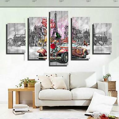 Kunstdrucke Retro,Fünf Panele Horizontal Druck Wand Dekoration For Haus Dekoration