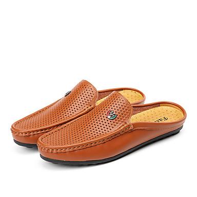 Miehet kengät Nahka Kevät Kesä Klassinen Vintage Rento/arki Comfort Valopohjat Moderni/nykyaikainen Mokkasiinit Käyttötarkoitus Juhla