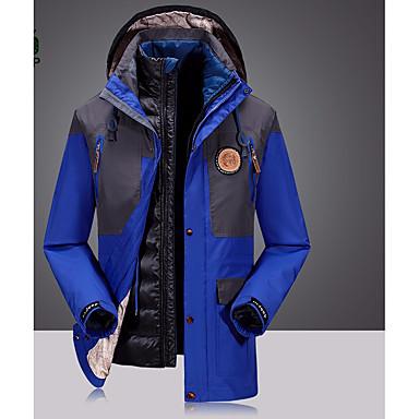 Herrn 3-in-1 Jacken Windundurchlässig Röcke Unten für Camping & Wandern Schnee Sport Winter Herbst