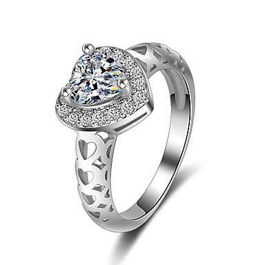 Dámské Prsten Zásnubní prsten Kubický zirkon Srdce Módní Elegantní Zirkon Srdce Šperky Svatební Párty