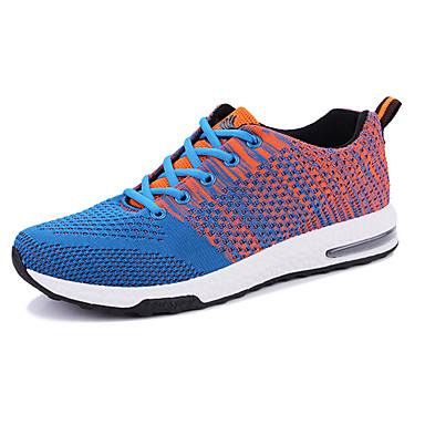 Homens sapatos Couro Ecológico Tule Verão Simples Casual Clássico Tênis Cadarço para Diário Esportes Casual Para Noite Preto Cinzento Azul