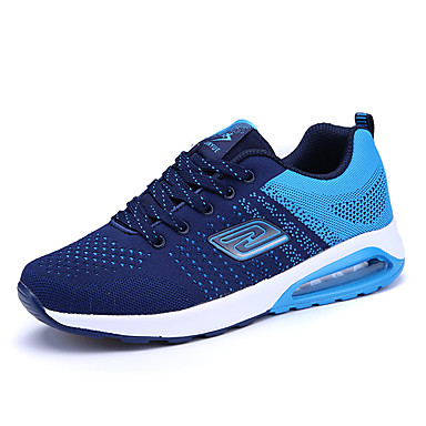 Herren Schuhe Tüll Frühling Sommer Komfort Mary Jane Sportschuhe Walking Schnürsenkel Für Sportlich Normal Schwarz Orange Blau
